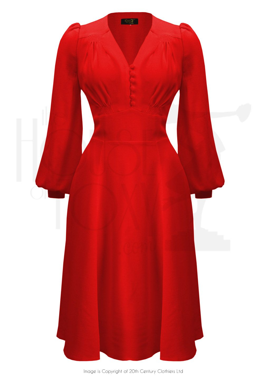 a954061a002 30s Evelyn Dress - Red Crepe in 2019