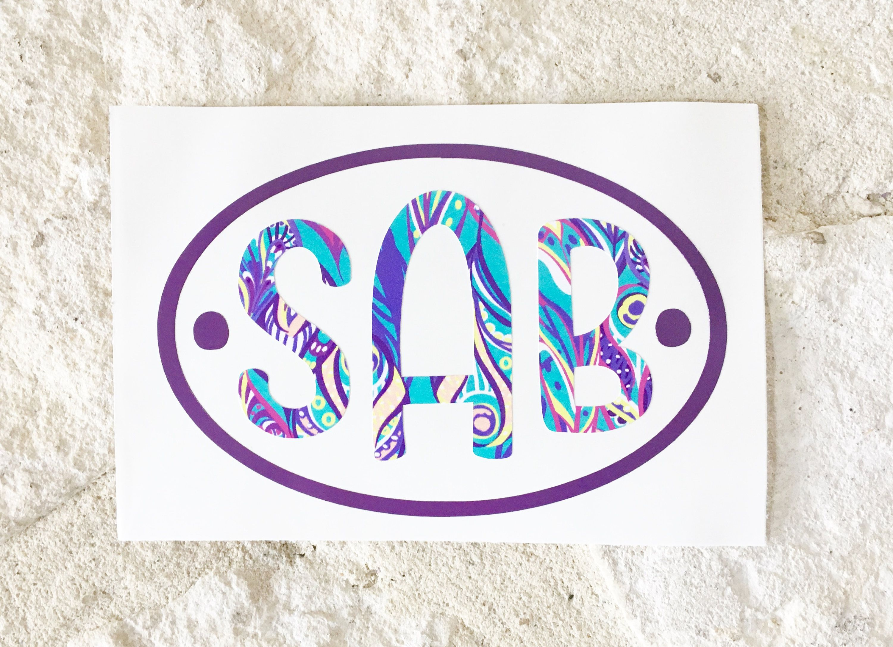 Monogram Decal Custom Decal Personalized Decal Vinyl Decal - Monogrammed custom vinyl decals for car