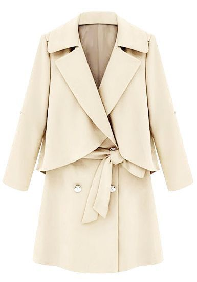 Layered Breasted Double Outwear Coat Layer Chest Apricot Panel xzIrqIdn
