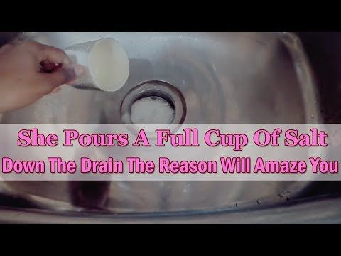 He Pours A Full Cup Of Salt Down The Drain The Reason Will Amaze You Remedys For Life With Images Unclog Drain Cleaning Household Drain Cleaner
