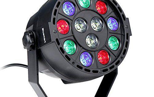 Blusmart 12W 12 LED GRB DMX 512 Eclairage pour Scène de Soirée Disco - eclairage exterieur detecteur automatique