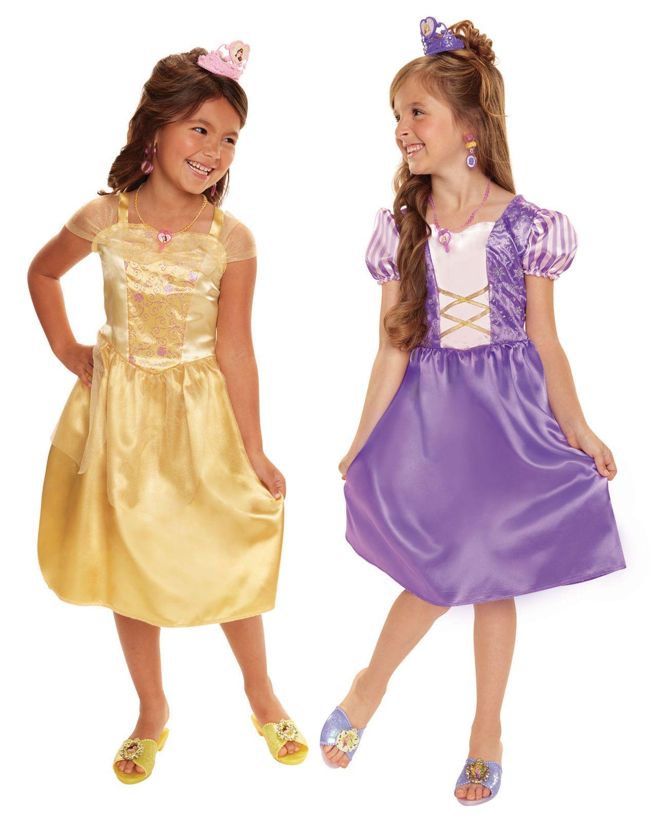 Disney princess dress up trunk set rapunzel and belle