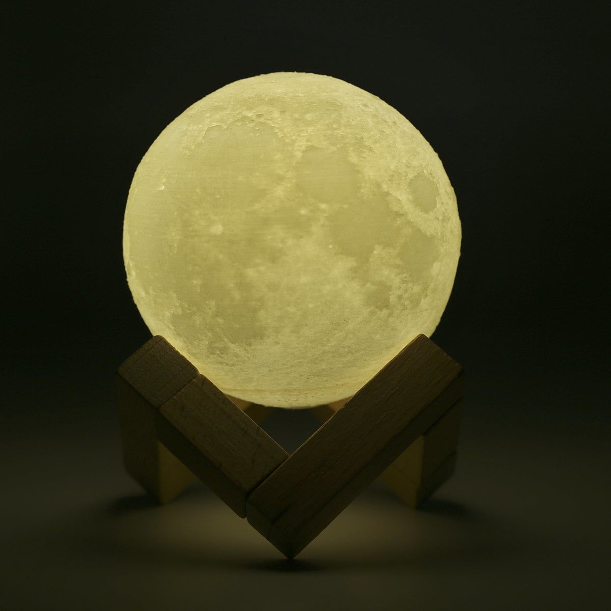 Lampwin Rechargeable 3d Print Moon Lamp 8cm 2 Color Change Touch Switch Bedroom Bookcase Night Light Home Decor Creativ Night Light Bedroom Bookcase Home Decor