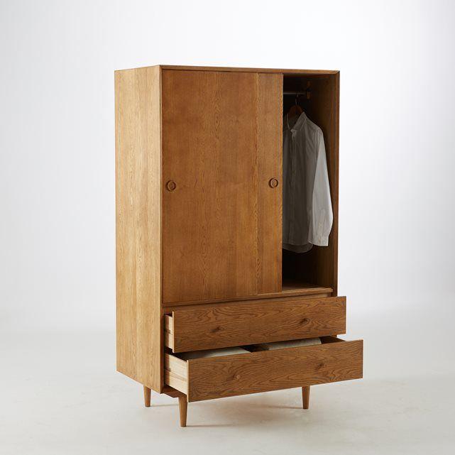 Armoire Penderie Vintage Quilda Kleiderschrank Eiche Kleiderschrank Vintage Kleiderschrank