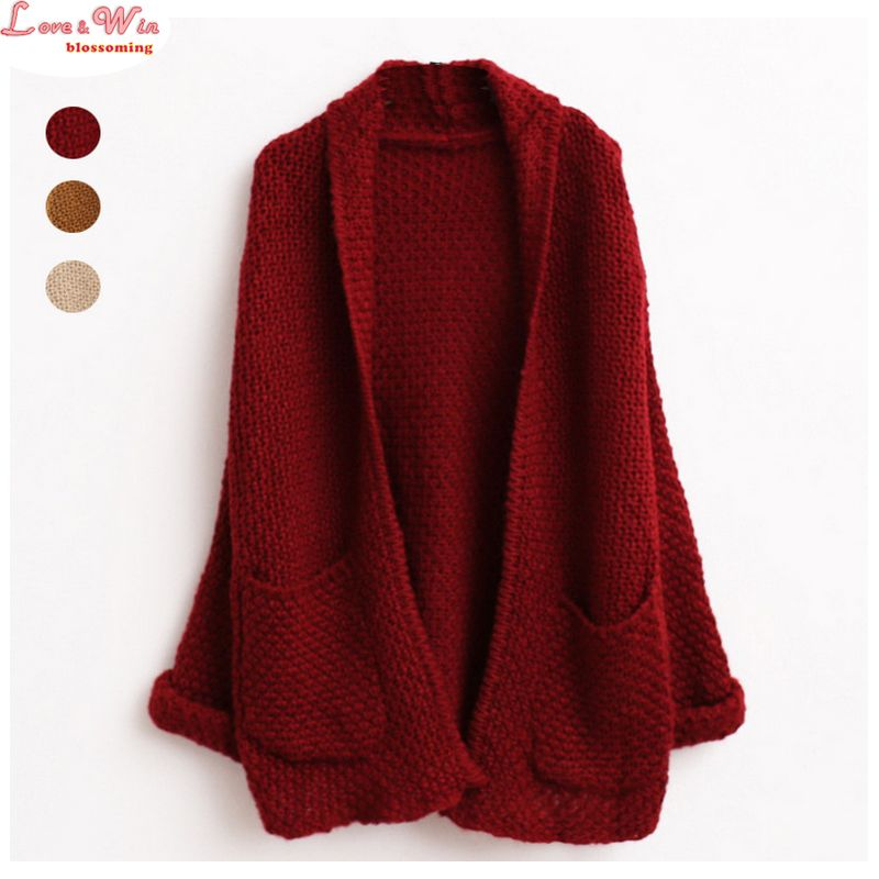 Women Long Plus Size Cardigans Curling Sweater Brand Knitting Outwear  Jersey Hemming Sweter Coating be301260f
