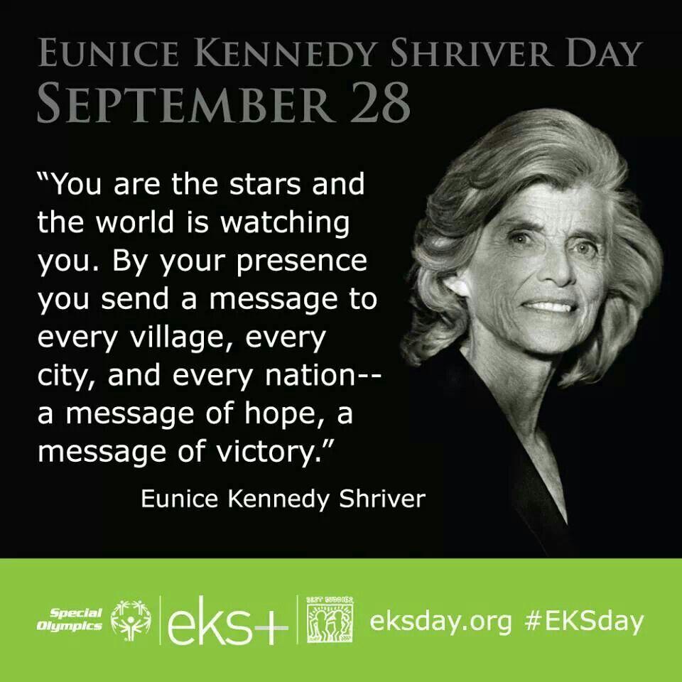 September 28 Eunice Kennedy Shriver Day