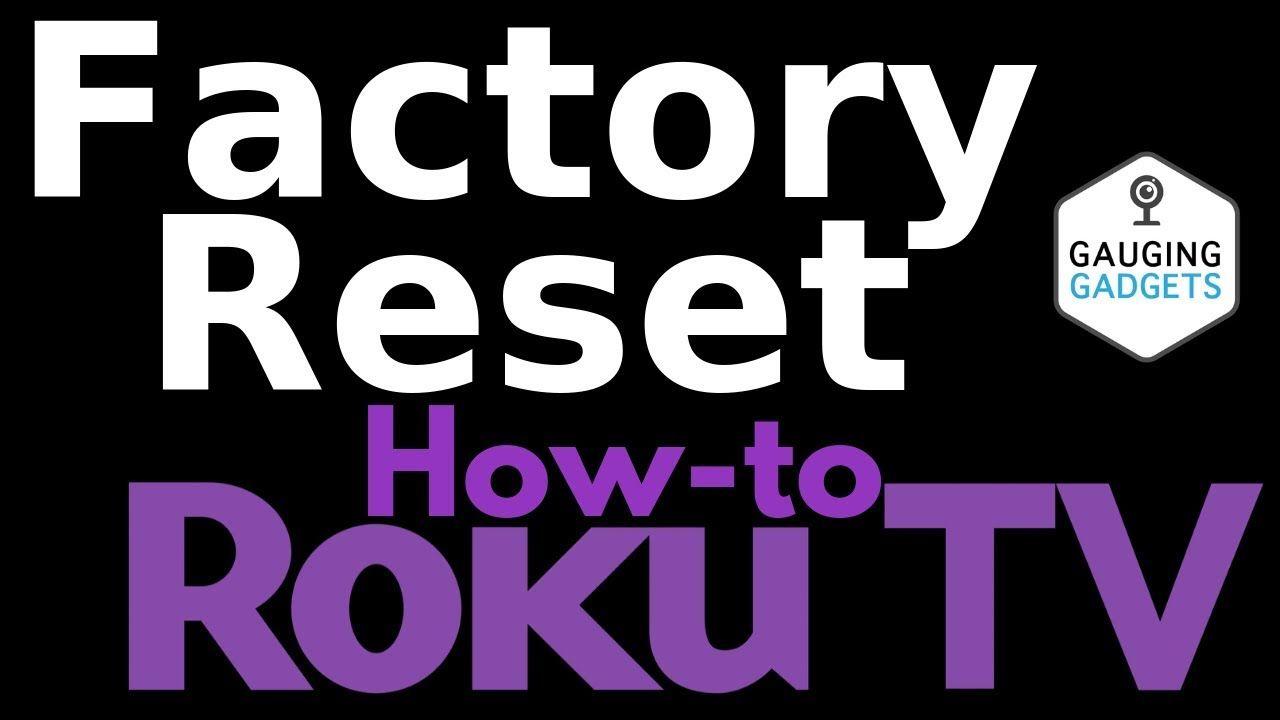 How to Factory Reset a TCL Roku TV - TCL Roku Tutorial   Household