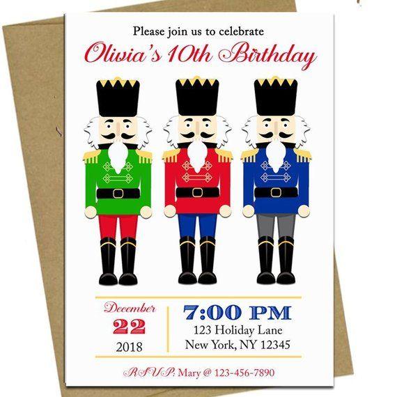 Christmas Invitation Printable Nutcracker Party Nutcracker Trio