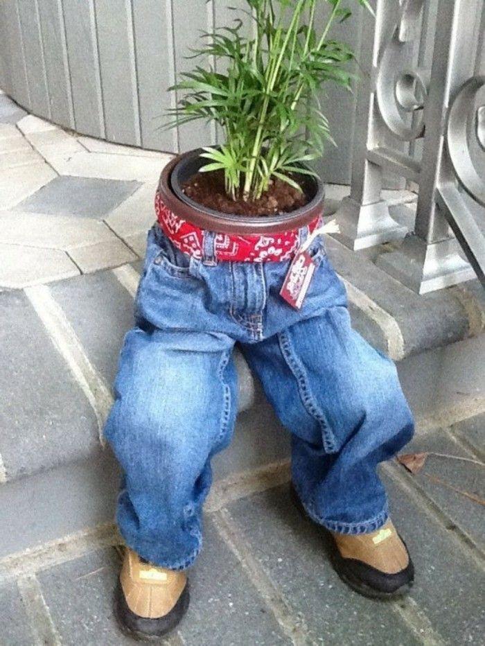 30 einfache bastelideen mit jeans die sie inspirieren gen htes garten garten deko und basteln - Garten bastelideen ...