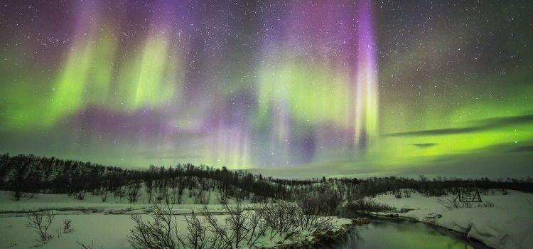 ver la aurora boreal en un viaje a laponia para el puente de diciembre
