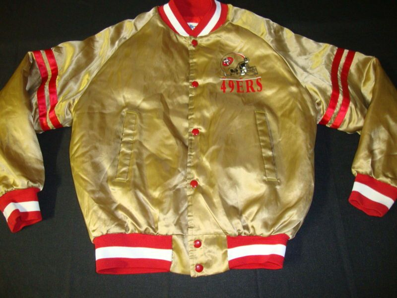 buy popular 368ba e2b7e Vintage San Francisco 49ers Chalkline Snapback Jacket jersey ...