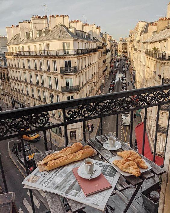 Parisian Balcony Travel Inspiration