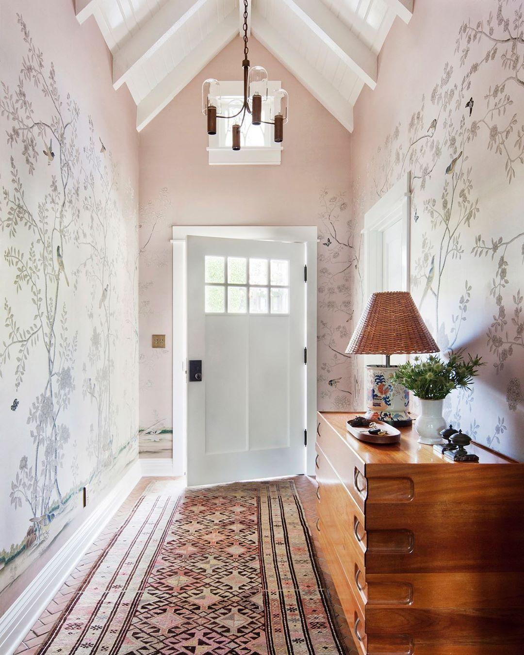 "Conservatory Room Addition In The Uk 1040x1485 In 2020: De Gournay Russia On Instagram: ""Интерьер холла от калифорнийского дизайнера Кристин Панич"