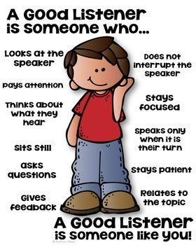 a good listener poster someone who school project classroom