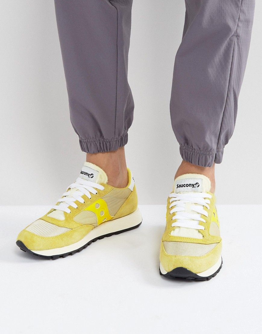 huge discount fd493 6cce6 SAUCONY JAZZ ORIGINAL VINTAGE SNEAKERS IN YELLOW S70368-2 - YELLOW.   saucony  shoes