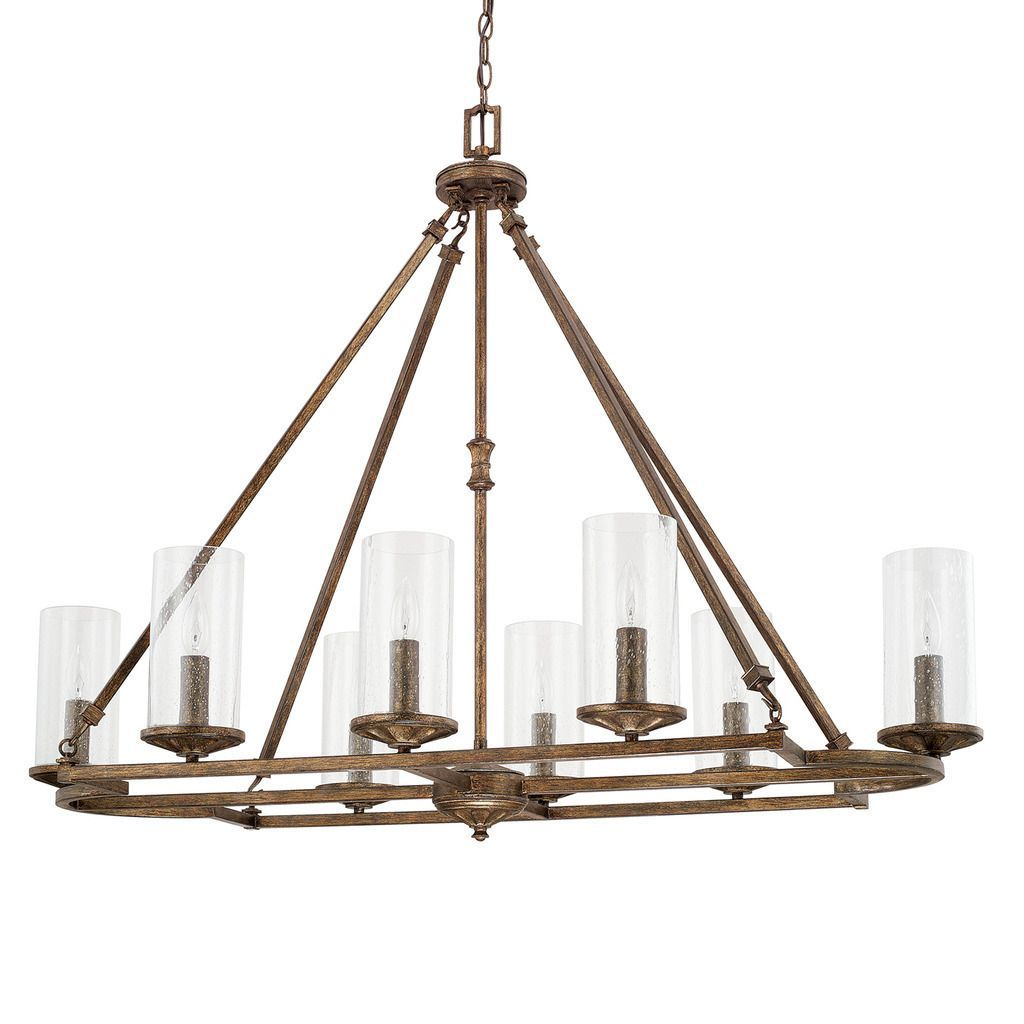 capital lighting avanti collection 8 light rustic chandelier by rustic lamps