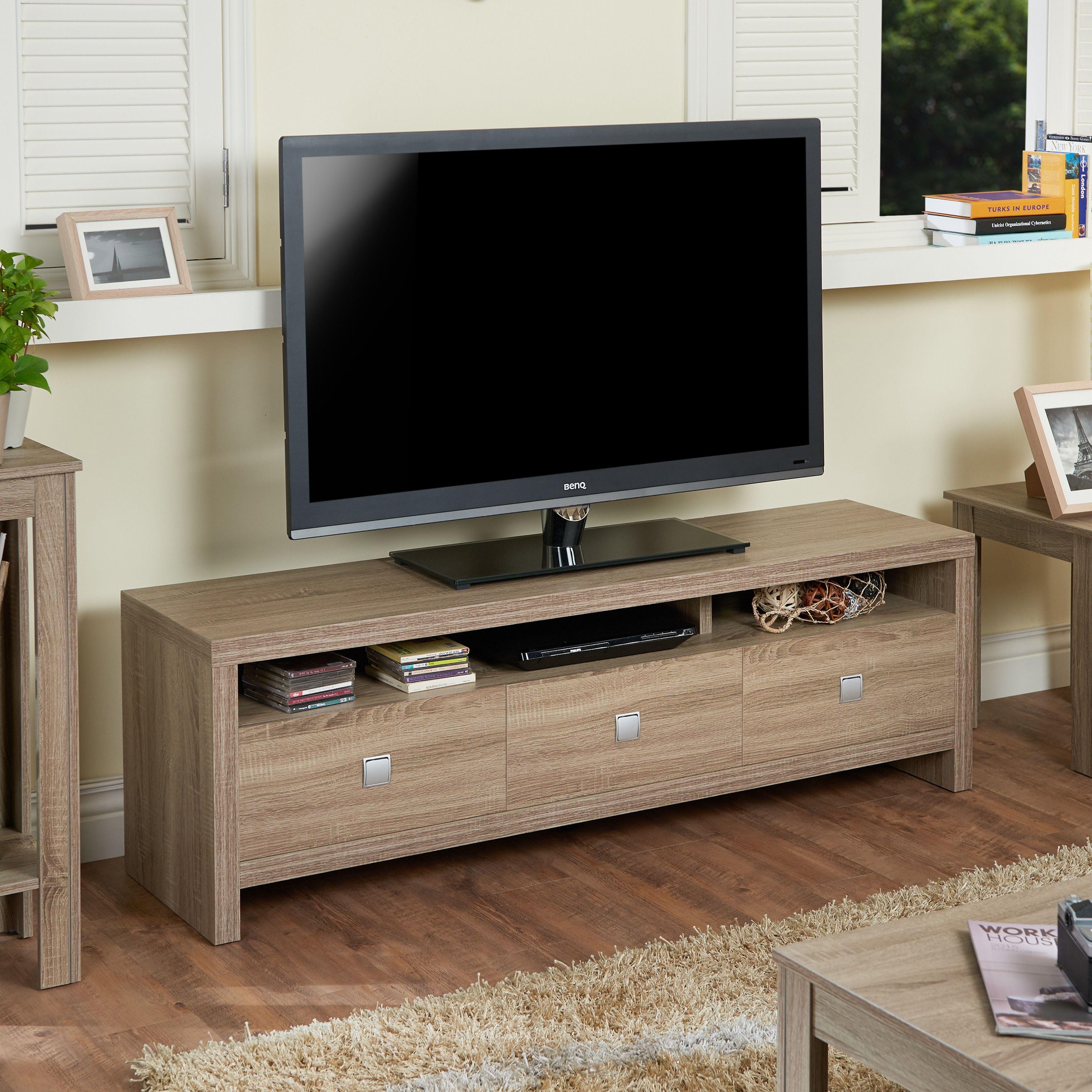 Furniture Of America Lisboa I Modern 60 Inch 3 Drawer Tv Stand