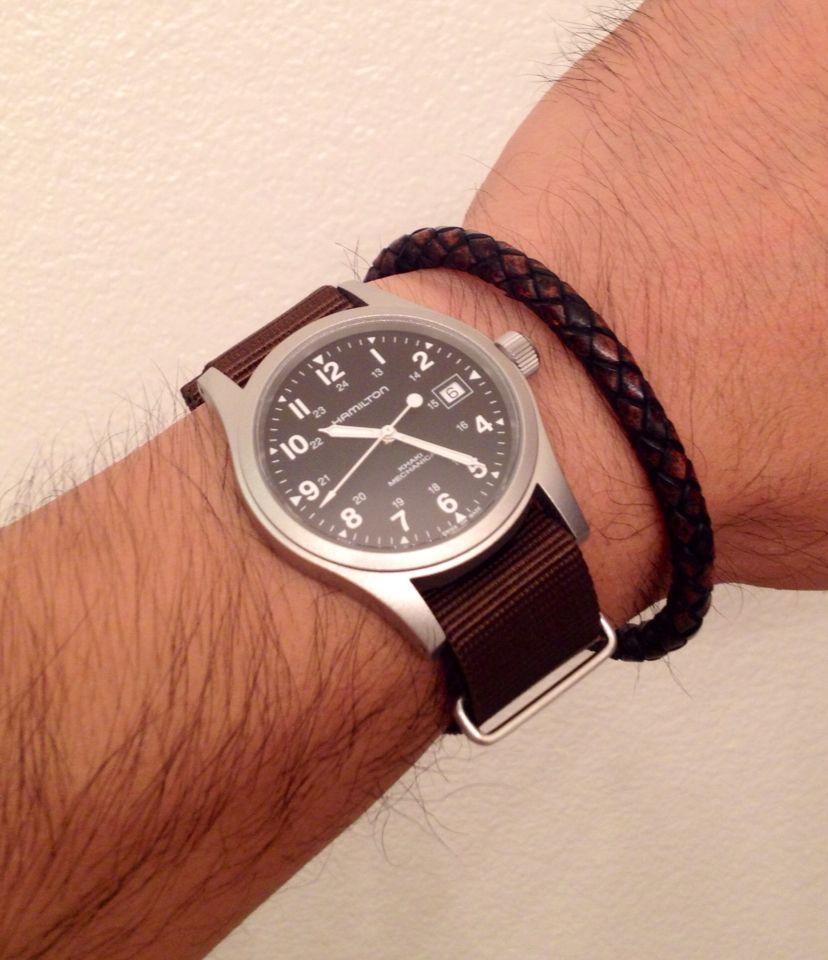 Hamilton Khaki Field Mechanical Watch Wrist Shots In 2019