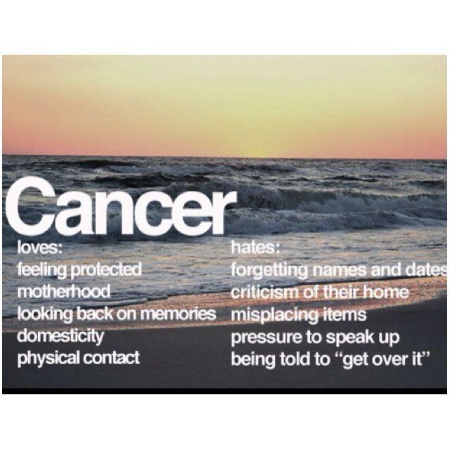 Cancer loves and hates