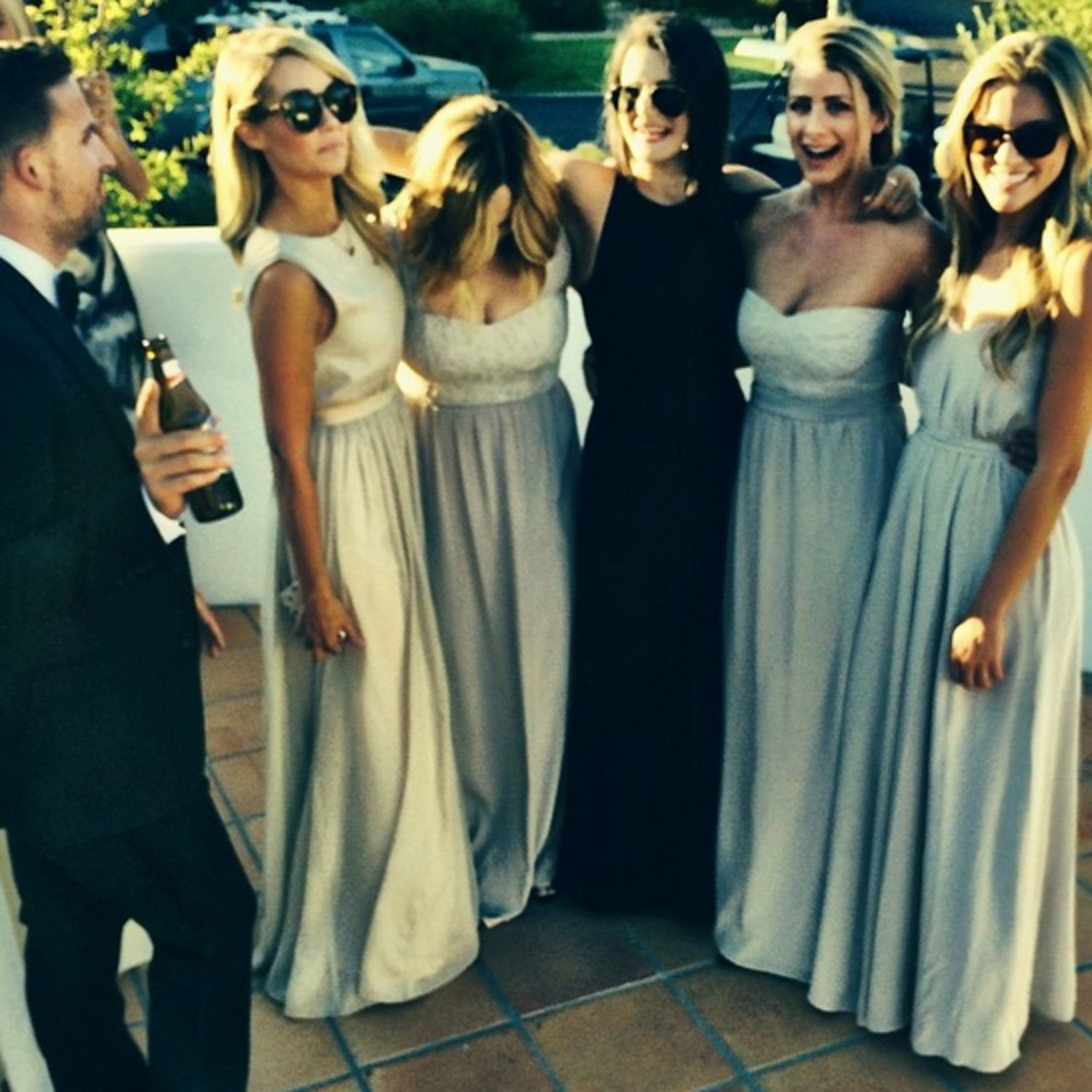 Lauren Conrad And Lo Bosworth Were Busy Being Bridesmaids This Weekend You Celebrity Wedding Dresses Bridesmaid Trending Dresses