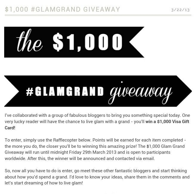 GlamGrand Giveaway= Shopping Spree!! A girl can dream, right