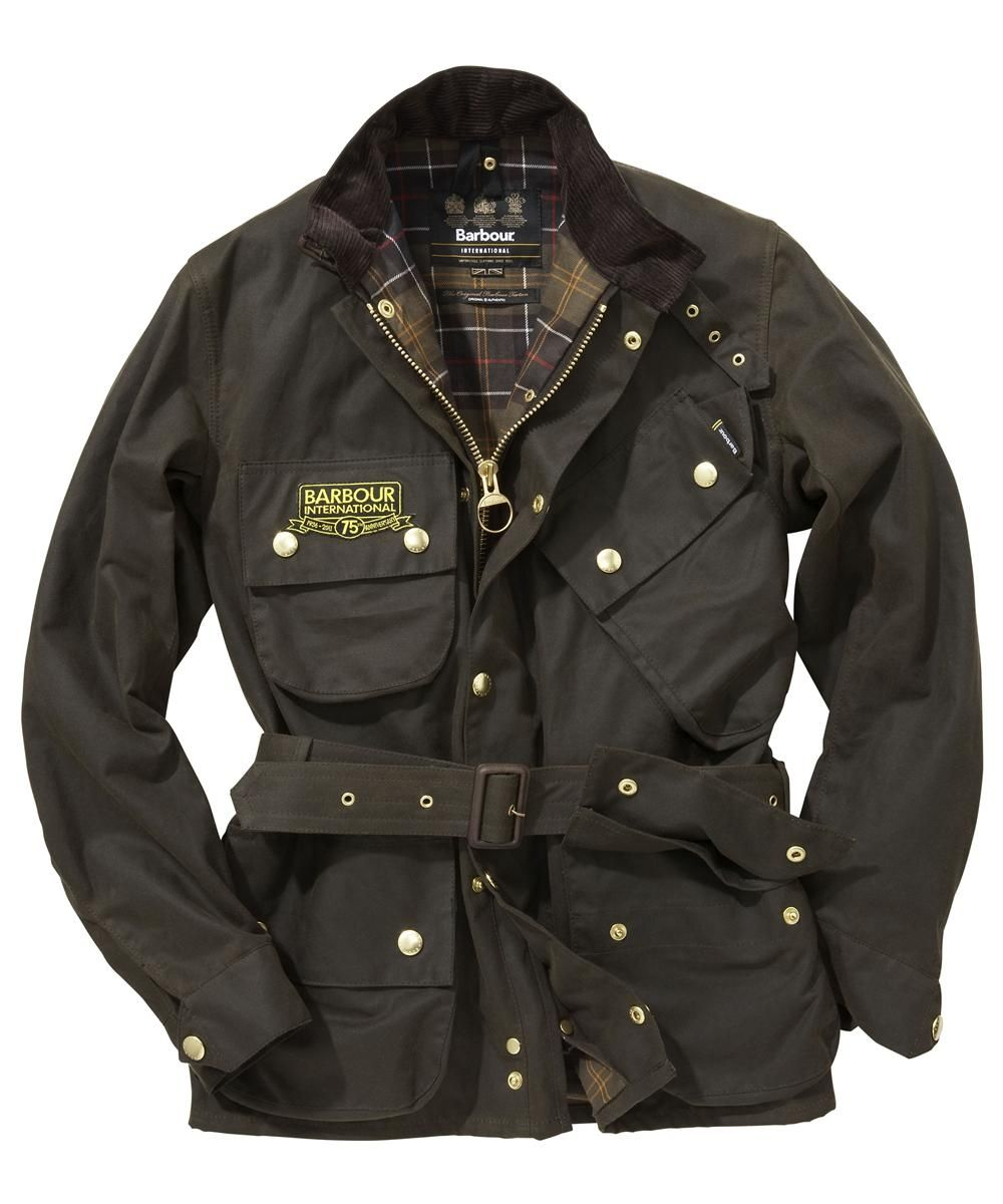 Mens jacket barbour - Mens Barbour International 75th Anniversary Waxed Jacket