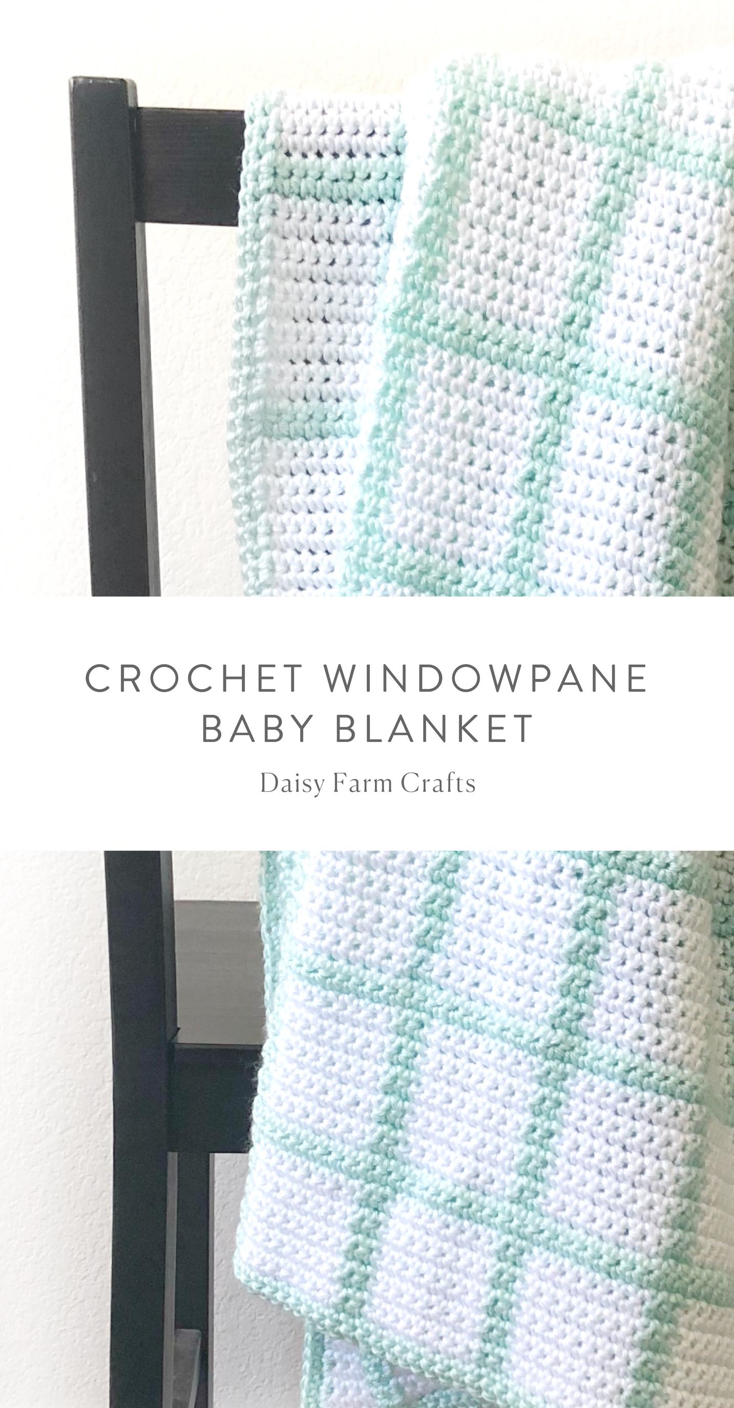 Free Pattern - Crochet Windowpane Baby Blanket #crochet   Crochet ...