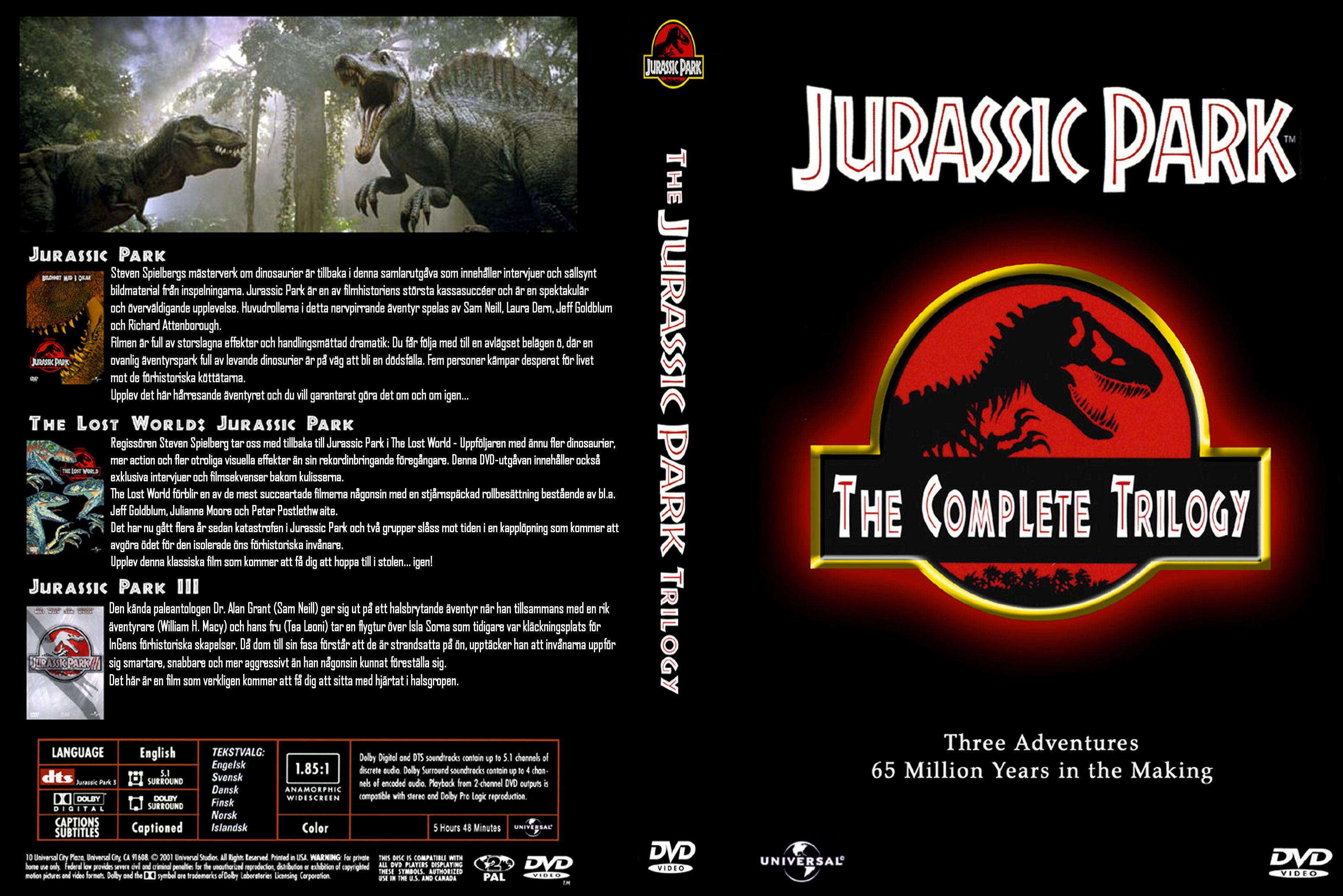 Movie Front Covers Covers Box Sk Jurassic Park Trilogy High Quality Dvd Blueray Movie Covers Jurassic Park Trilogy Dvd Covers
