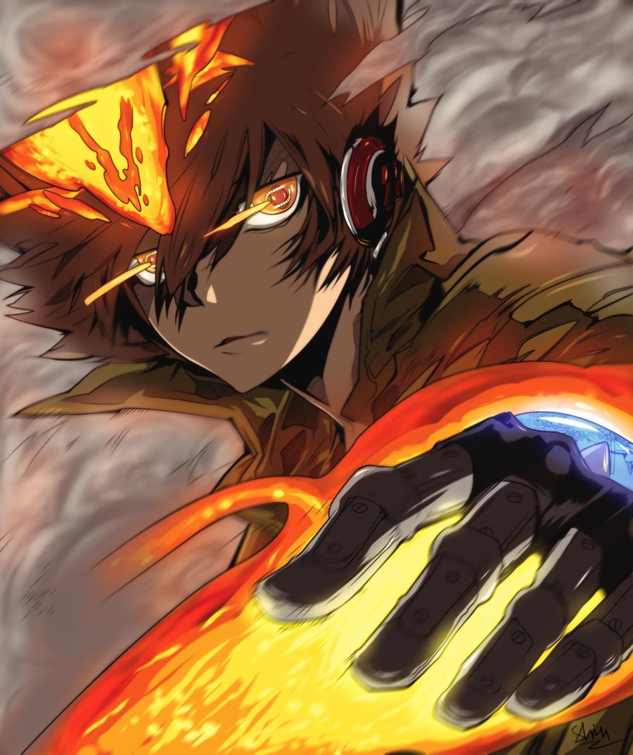 Tsuna X Burner Hitman Reborn Reborn Katekyo Hitman Hitman