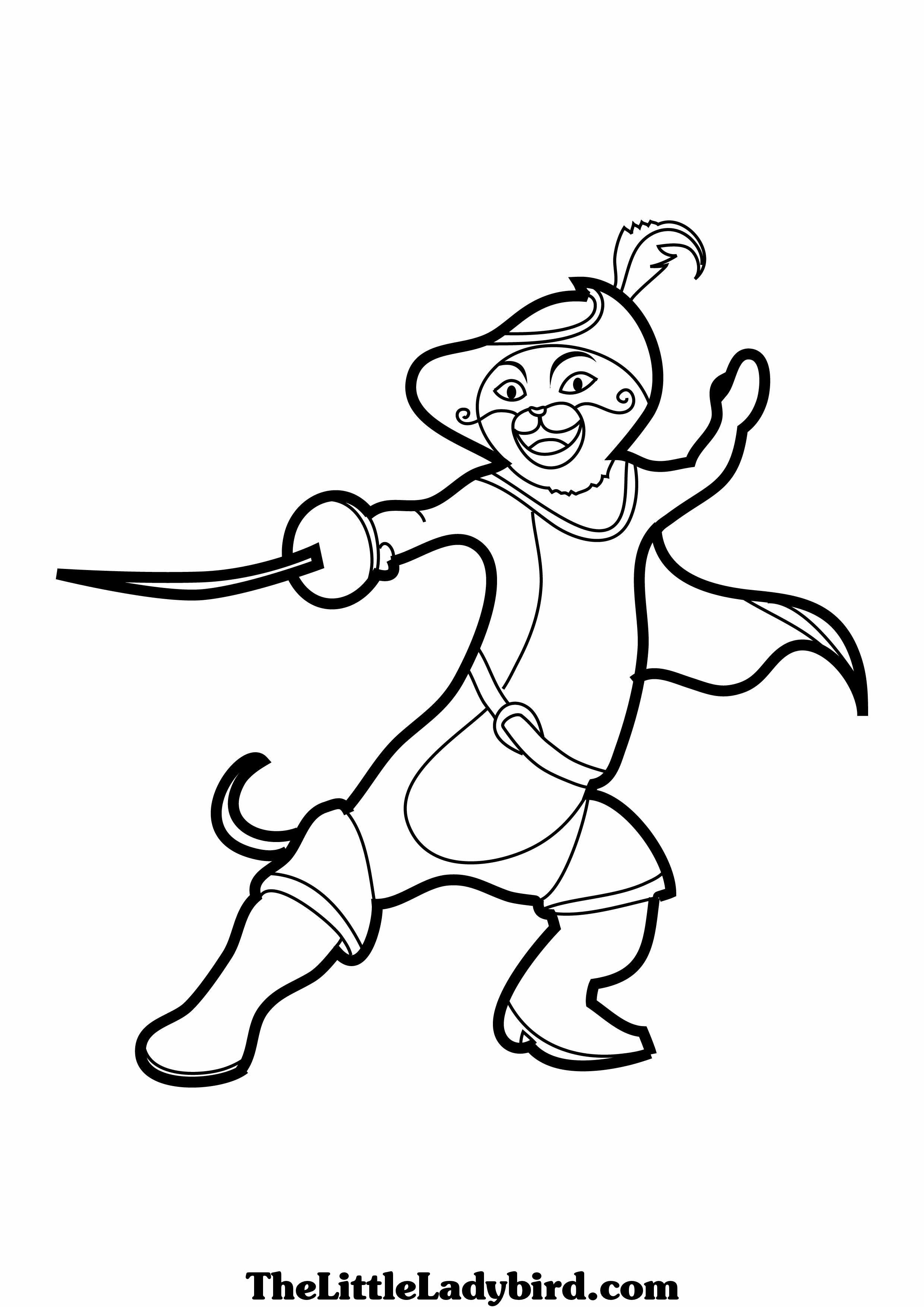Fine Puss In Boots Coloring Pages Disney Model - Professional Resume ...
