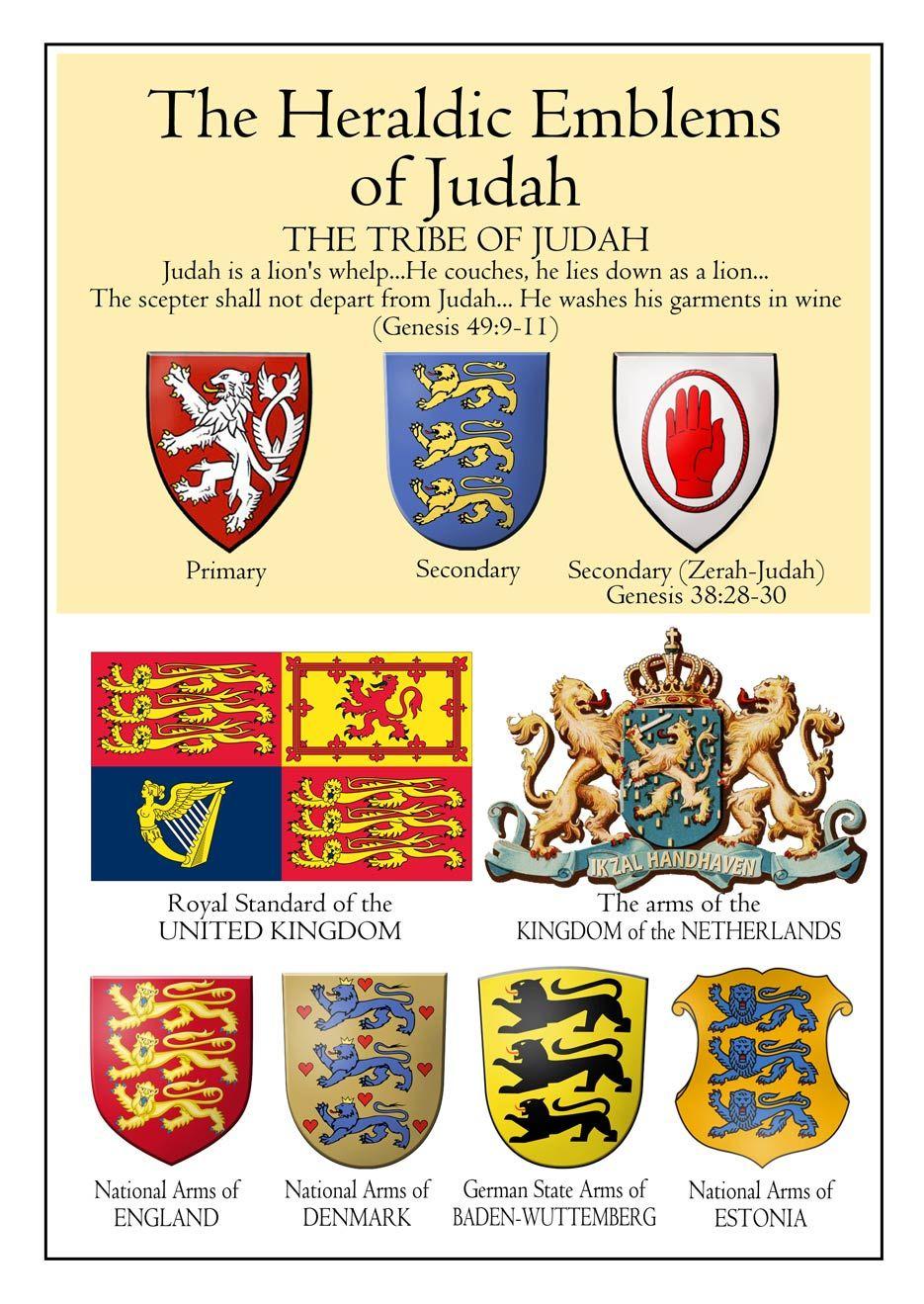 Emblems Of The Tribe Of Judah Con Imagenes Tribu De Juda