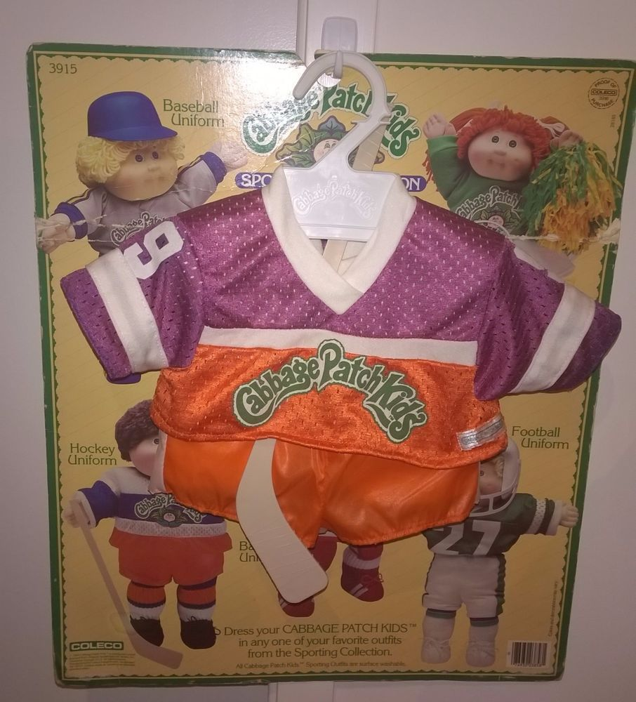 1984 Cabbage Patch Kids Sporting Collection Hockey Outfit And Stick Cabbage Patch Kids Hockey Outfits Kids