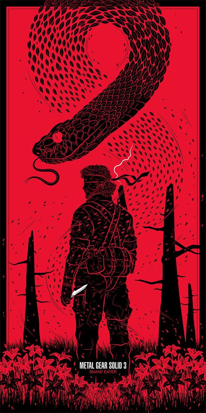 40 Sinister Pieces Of Art Design Work Featuring Snakes Metal Gear Solid Metal Gear Gear Art