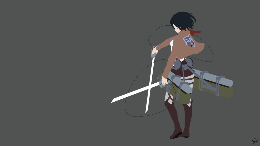 Mikasa Ackerman Shingeki No Kyojin Minimalism Attack On Titan Mikasa Attack On Titan Anime