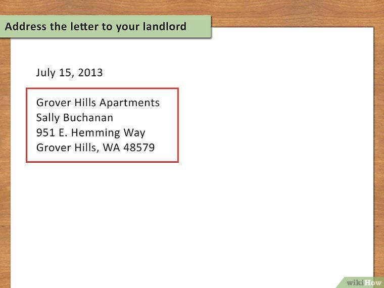 How To Write A Letter Of Notice To Your Landlord 14 Steps Being A Landlord Lettering Writing