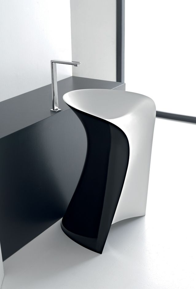 Parisi Bathware presents a unique freestanding washbasin as part. Countertop Washbasin ZIP   Plavisdesign   Basin   Pinterest