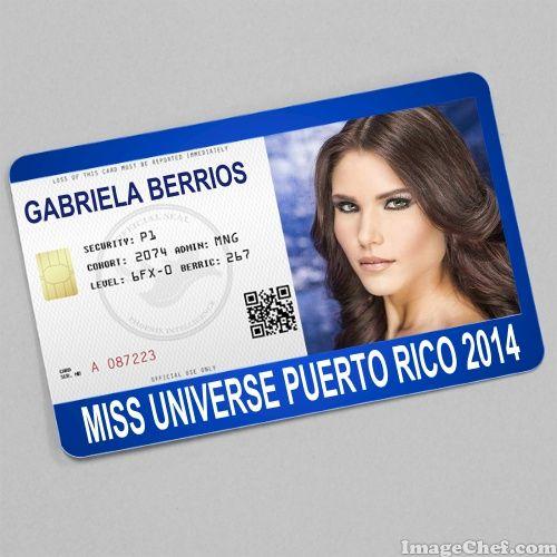 Gabriela Berrios Miss Universe Puerto Rico  Card  Id Card