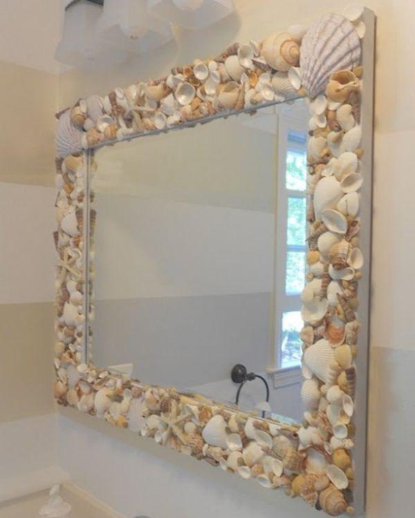 Dallo stile classico al moderno. 10 Awesome Beach Themed Projects For A Vacation Like Feel Specchi Con Conchiglie Specchio Fai Da Te Bagno Spiaggia