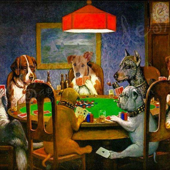 Votre Chien Joueur De Poker Dans Un Tableau De Par Imaginartdesign Art A Theme Chien Les Arts Comment Peindre