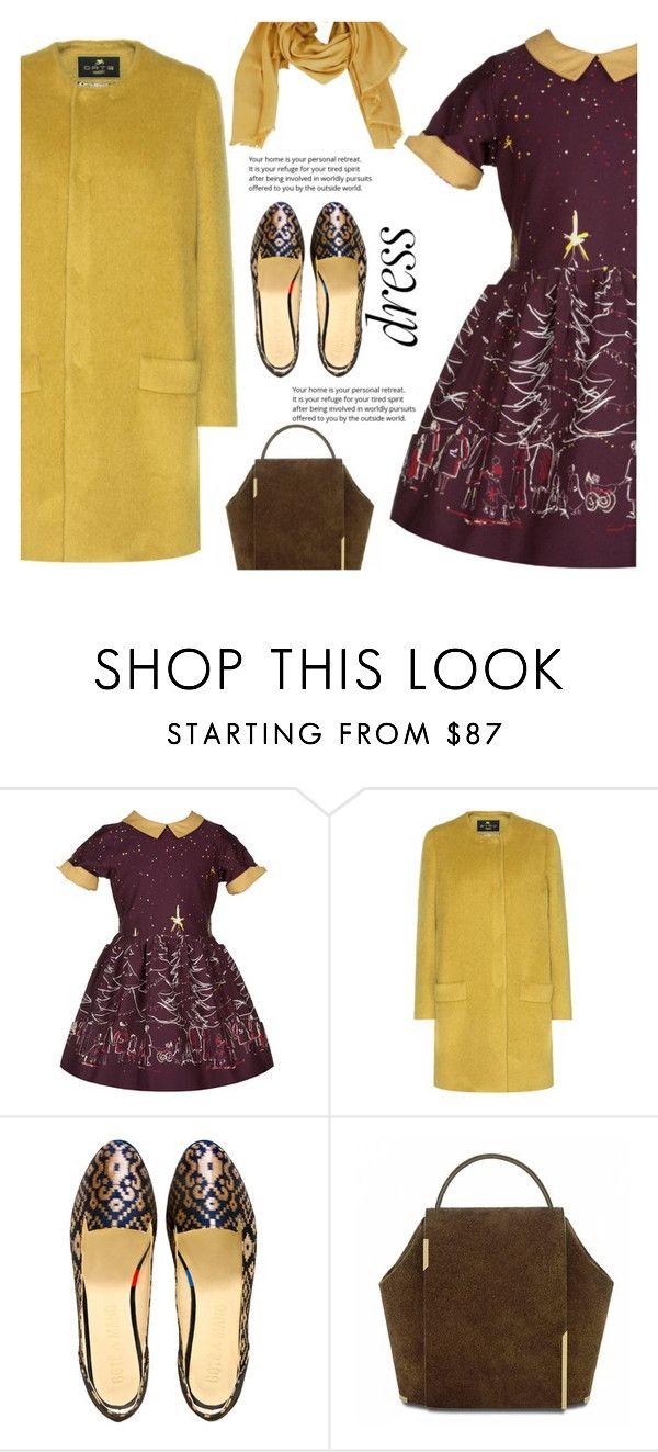 """$87 dress"" by juliehalloran ❤ liked on Polyvore featuring Palava, Etro, Boté a Mano and MaxMara"