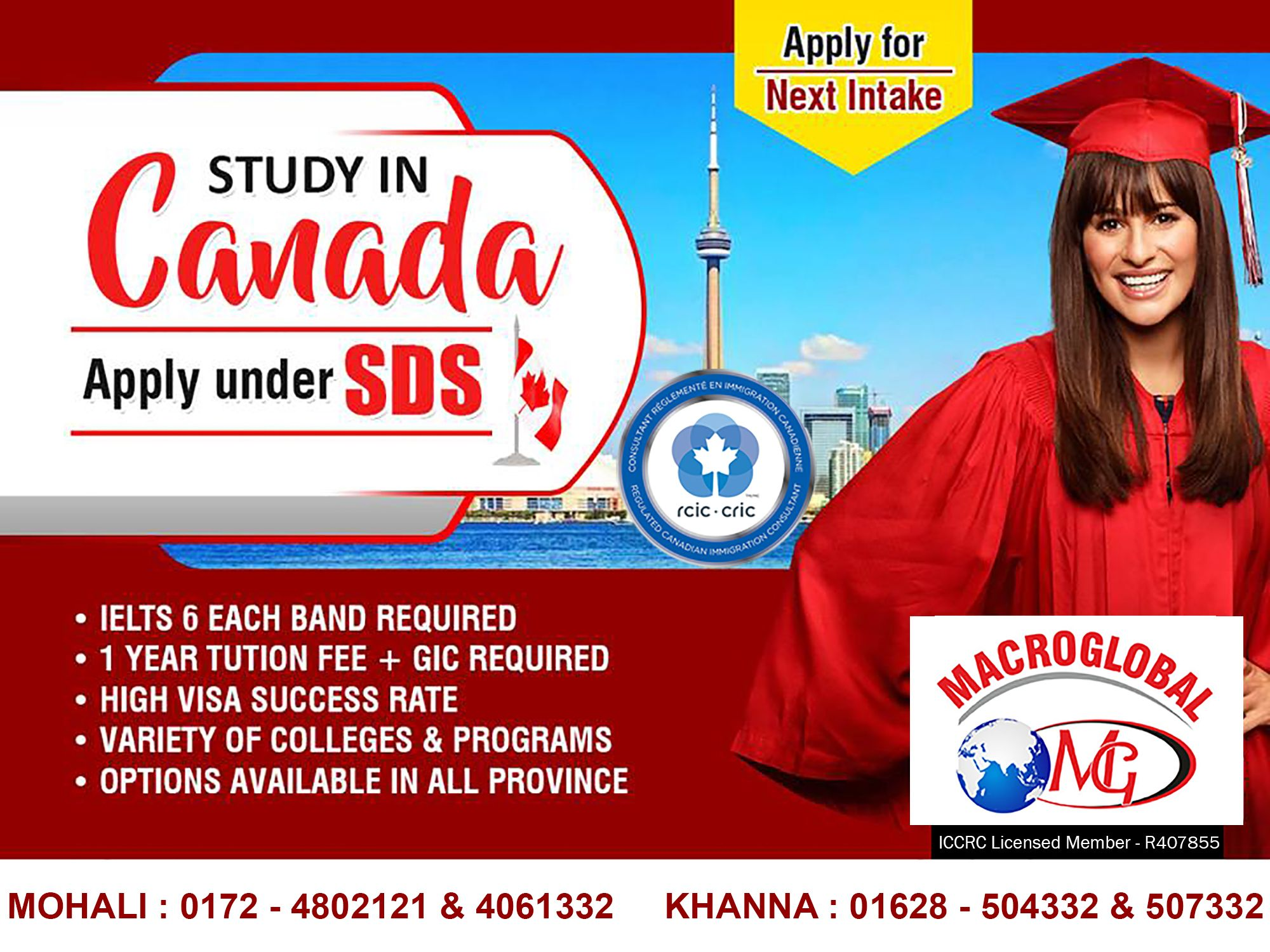 Study In Canada with Macroglobal Immigration Services Apply under
