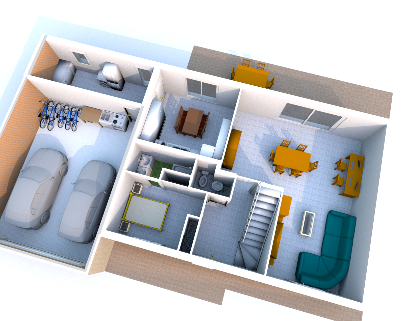 Plan maison 3d endroits visiter pinterest 3d for Plans de maison 3d