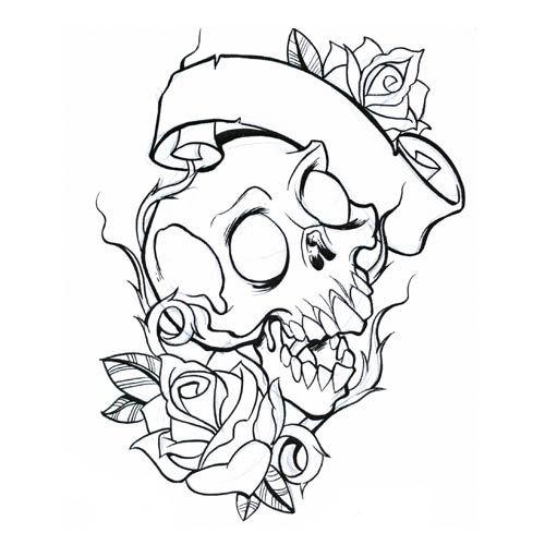 Skull Tattoo Sheets Lilz Eu Tattoo De Tattoo Coloring Book Skull Coloring Pages Skull Tattoo
