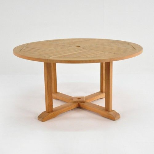Round AGrade Teak Outdoor Dining Table Furniture家具 - Small teak table and chairs