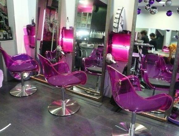 vintage style hair salon design