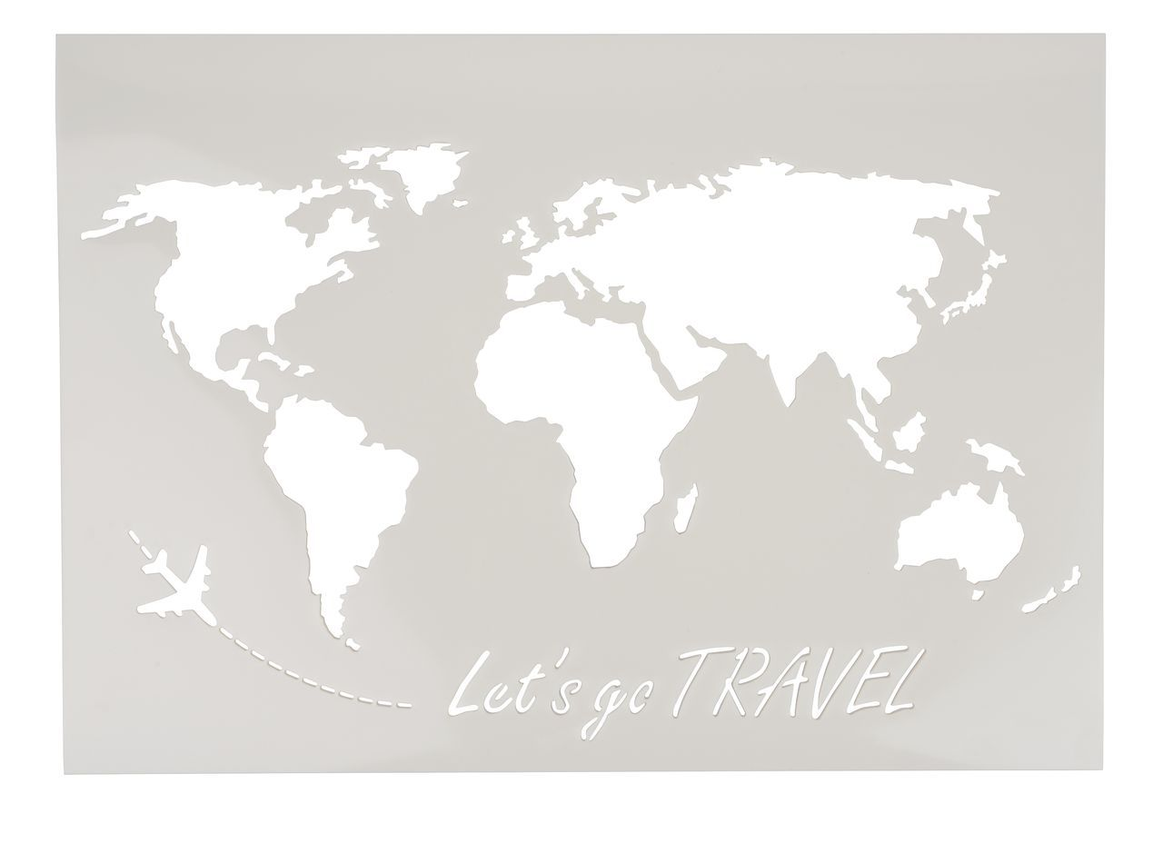 Pochoir Vbs Carte Du Monde Let S Go Travel A3 En 2020 Carte