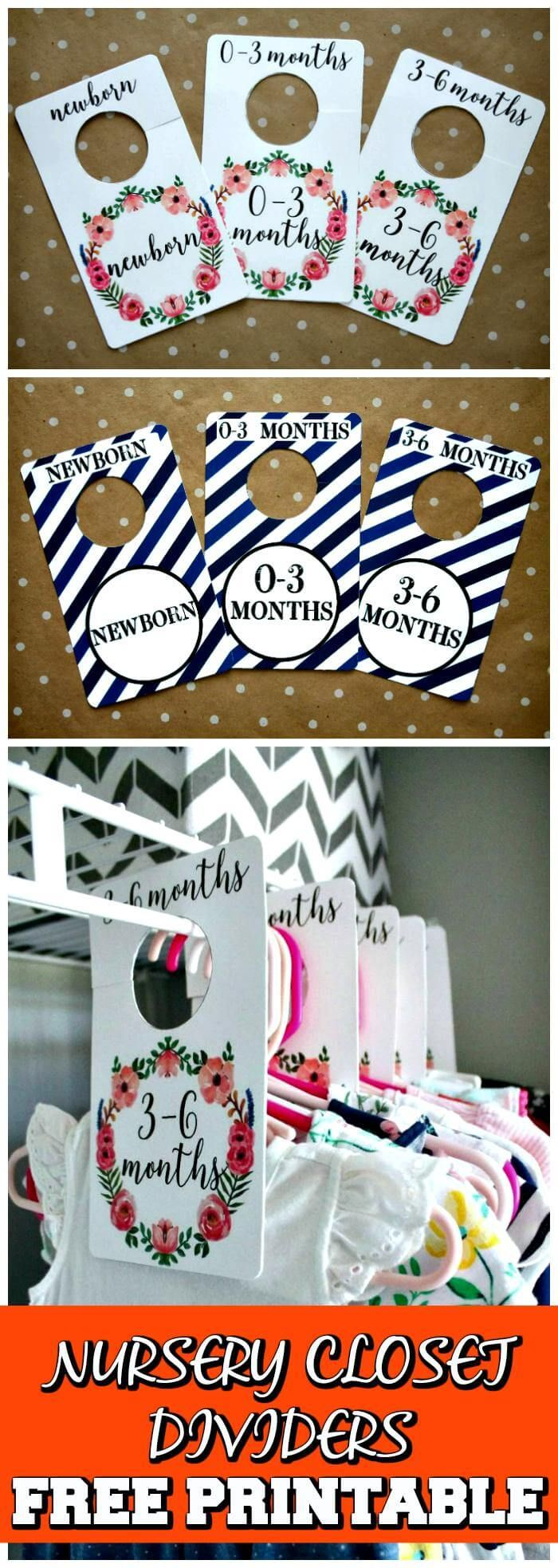 20 Easy DIY Baby Closet Dividers To Organize Baby Clothes images