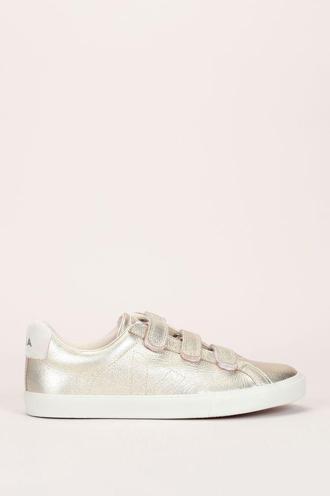 cc2fd4ac4e86c0 Sneakers cuir doré scratchs 1 | Mode in 2019 | Chaussure, Baskets à ...