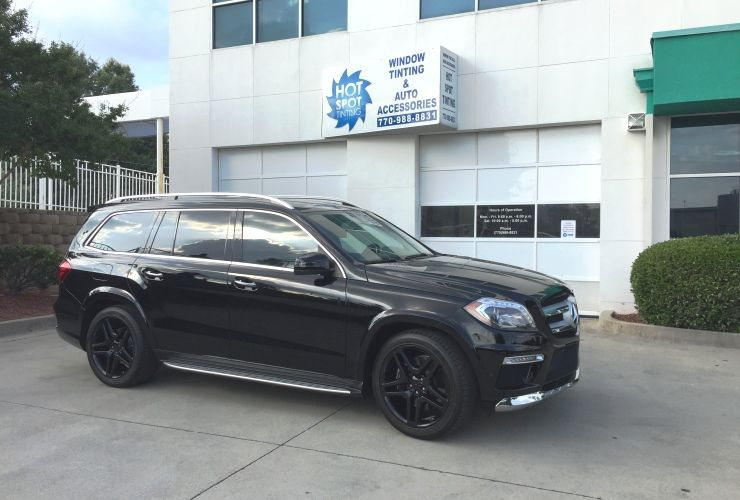 window tinting marietta ga marioepanya mercedes benz suv with black paint and 3m crystalline window tinting hot spot tinting marietta ga tinting