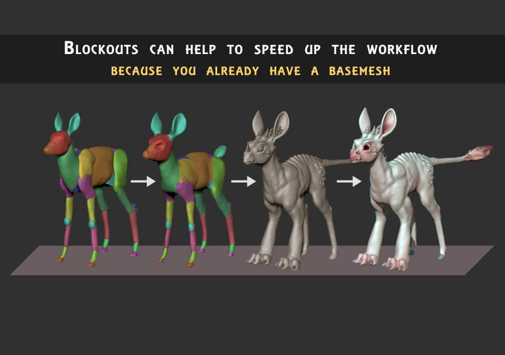 3D Animals Blockout Models Forest Pack (con imágenes)